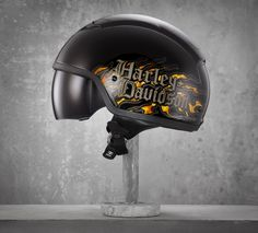 Fearsome and territorial are two choice words to describe this helmet. You'll especially appreciate the front and rear air channels on this motorcycle half helmet. They'll help provide maximum airflow during your Iron Butt endurance ride this summer. | Harley-Davidson Men's Cavity 1/2 Helmet with Non-Visor Sun Shield