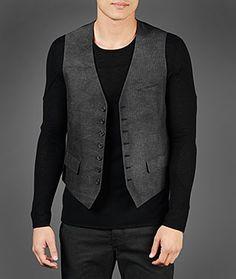 John Varvatos Official Site: Shop Online , VARV-3613 Multi Button Front Vest, johnvarvatos.com