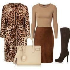 Комплекты с леопардом очень заметные! Чтобы создать достойный лук, пусть только одна вещь будет с принтом. А остальные вещи в комплекте должны быть простыми и по цвету и по крою и никаких лишних аксессуаров и украшений. А вы любите леопард?  #polyvore #lismirnova #леопард #принтлеопардовый #Fashion #Style #DolceGabbana #Viyella #SergioRossi #YvesSaintLaurent