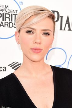 Cropped: The 30-year-old is embracing her new cropped hairstyle...