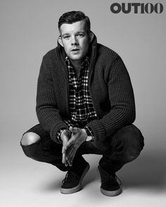 Photography by Ryan Pfluger at Milk Studios, New York, on October Styling by Michael Cook. Hair: Naivasha at Exclusive Artists management. Sweater by Victorinox. Russell Tovey, Being Human Uk, Out Magazine, Milk Studios, Actors Male, Lgbt Love, Matthew Gray Gubler, Famous Men, British Actors