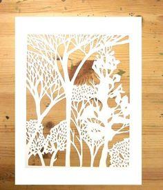 Forest papercut