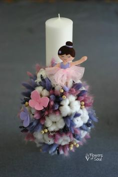 Flowers of Soul Diy Flowers, Flower Diy, Pillar Candles, Christening, Projects To Try, Baby Shower, Baby Style, Party, Diy Ideas