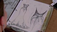 I love sketches - this is Brooke Davis' dream wedding dress from One Tree Hill. These are the kind of sketches that inspire a story. I'd love to feature sketches like these in my own magazine.
