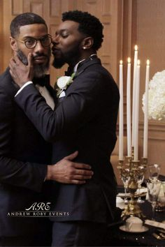 Washington, DC served as the platform for this LGBT Wedding with a Harlem Renaissance theme. Cute Gay Couples, Black Couples, Couples In Love, Lgbt Couples, Sex And Love, Man In Love, Black Love, Black Men, Frases Lgbt