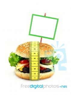 Cheeseburger In Diet Concept   really something to think about