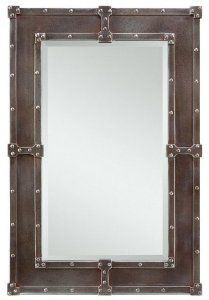 Enjoy exclusive for Cooper Classics Lamare Oversized Mirror, Pewter/Copper online - Findoffertoday Metal Mirror, Wall Mounted Mirror, Beveled Mirror, Black Mirror, Hallway Mirror, Wall Mirrors, Industrial Mirrors, Vintage Industrial Furniture, Metal Picture Frames