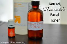 Using toner (or astringent) as part of a regular skin care routine is helpful in removing dirt, tightening pores, and preparing the skin to be moisturized. Here is a natural homemade facial toner & recipes!