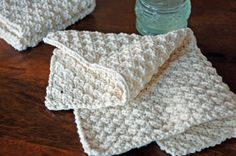 Hand-knit washcloth pattern