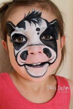Dieren schmink idee: Koe