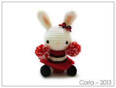 Cheerleader Bunny Amigurumi ~Free Download Pattern