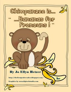 Lil+Chimpanzee+is+Bananas+for+Pronouns+from+The+Primary+Reader++++on+TeachersNotebook.com+-++(9+pages)+