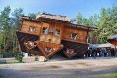 Шедевры современной архитектуры Перевернутый дом (Шимбарк, Польша, архитектор Даниэль Чапевски)