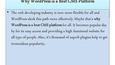 WHY WORD PRESS IS A BEST CMS PLATFORM http://webrankservices.com.au/what-we-do/reputation-management/