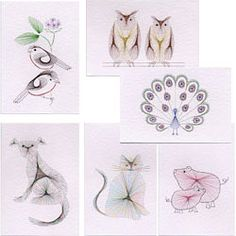 Birds/animals - patterns for stitched cards. Lots of designs (some free patterns too).