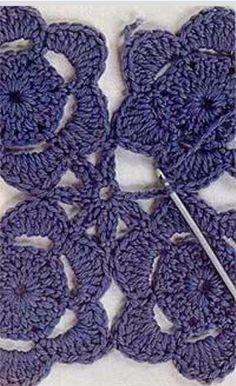 Crochet Squares, Crochet Granny, Crochet Motif, Crochet Doilies, Crochet Flowers, Crochet Lace, Doily Patterns, Crochet Patterns, Crotchet Stitches
