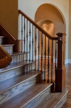 Staircase- railing and hardwoods
