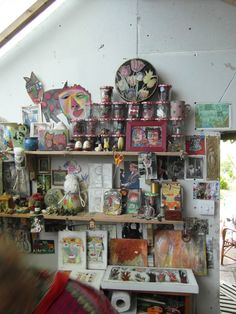 Cornwall Open Studios, Sue Dove,Jane Winton, Sara Holden, Terry Rigden and Sheila Mitchell. Space Crafts, Craft Space, Museum Art Gallery, Room Of One's Own, Dream Art, Fabric Art, Art Studios, Artist At Work, Studio Ideas