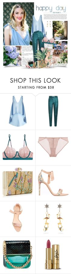 """""""Happy Day To You!"""" by thewondersoffashion ❤ liked on Polyvore featuring Natasha Zinko, Victoria, Victoria Beckham, Elle Macpherson Body, Judith Leiber, Alexandre Birman, Miu Miu, Marc Jacobs, Dolce&Gabbana and Jacquie Aiche"""
