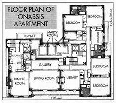 Floor plan of Jackie's NYC apartment.