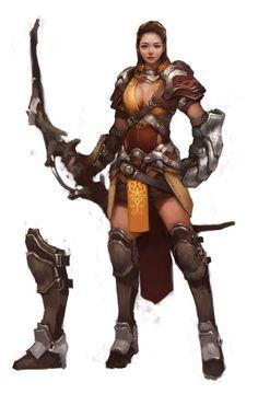 Female armored