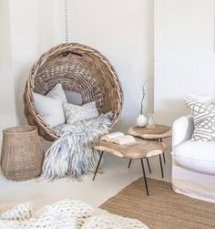 Home decor inspiration. Home decor ideas The post Neutral colour. Home decor inspiration. Home decor ideas… appeared first on Emmy's Designs . Home Decor Inspiration, Interior, Hanging Chair, Living Room Decor, Modern Bohemian Bedroom, Living Room Diy, Chair, Home Decor, Feminine Living Room