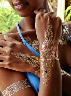 Sheebani - Flash Tattoos - henna inspired