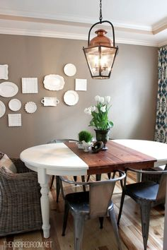 spring dining room & table decorating