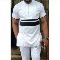 Wusi African shirt and a matching pant/ African men clothing / wedding suit/dashiki African Wear Styles For Men, African Shirts For Men, African Dresses Men, African Attire For Men, African Clothing For Men, Latest African Fashion Dresses, African Men Fashion, Mens Fashion, Ankara Fashion