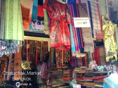 scarf, bathrob, and cotton shawl sell cheap at chatuchak market