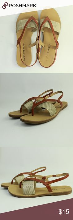 5a08453d8890 Lucky Brand Strappy Flip Flop Sandals