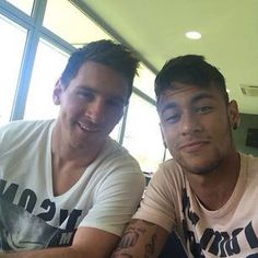 Messi & Neymar of FC Barcelona
