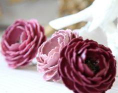 Blush Rose di carta sovradimensionata invidia anelli gioielli dichiarazione la collezione invernale di Plumberry