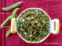 Side dish made with Green Peas in the Maharashtrian style.