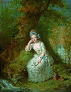 Portrait of King's mistress Anna Szaniawska née Scypion, ca. 1785 (PD-art/old), Muzeum Łazienki Królewskie (MLK)