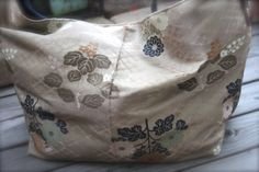 OBi / Kimono / Bag / BG685 Antique Obi Big Tote Bag With