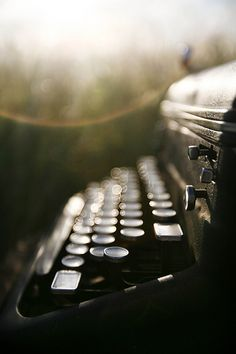 It's just a typewriter....  but oh how gorgeous does the photographer make it look!