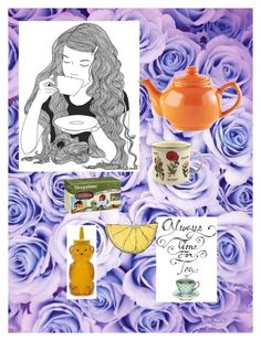 """""""Time for Tea"""" by stay-strongforever ❤ liked on Polyvore featuring interior, interiors, interior design, home, home decor, interior decorating, GE, Price & Kensington, Dot & Bo and Celestial Seasonings"""
