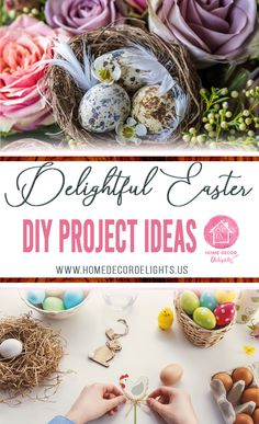 Delightful easter DIY project ideas. #DIY #project #easterdecor #delightful