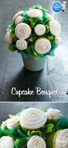How To Make A Gorgeous Cupcake Flower Bouquet   The WHOot                                                                                                                                                                                 More