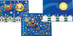 DIY Merry Christmas To All Sticker Scenes (2shts) :   Set includes 1 x paper 27.9 cm x 21.6 cm background sheet, and 1 x sticker sheet. (102 stickers per sheet)  Stickers are repositionable and acid free.