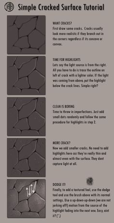 Easy Cracked Surface Tutorial by semaj007 on deviantART