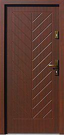 Drzwi zewnętrzne drewniane wzór 543,6 w kolorze orzech