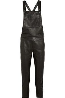 EACH X OTHER Washed-leather jumpsuit  | NET-A-PORTER