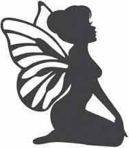 Image result for simple stencils of fairies