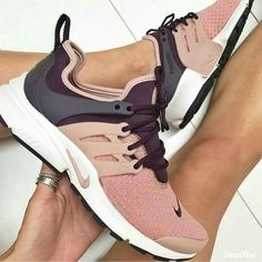 blush, plum and gray nikes for women unique running shoes Pinterest: @handsomeandwealthy
