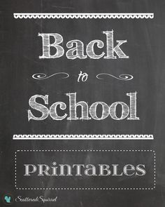 Back to School: Printables - Scattered Squirrel