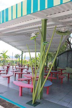 Exterior cafeteria design