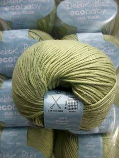 Debbie Bliss pale green eco baby fair trade yarn