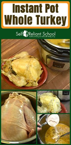 favorite recipe source for healthy food [Paleo, Vegan, Gluten free] How to cook a delicious moist whole turkey in the Instant Pot. via to cook a delicious moist whole turkey in the Instant Pot. Pressure Cooker Turkey, Instant Pot Pressure Cooker, Pressure Cooker Recipes, Pressure Cooking, Slow Cooker, Pressure Pot, Whole Turkey Recipes, Cooking Recipes, Healthy Recipes